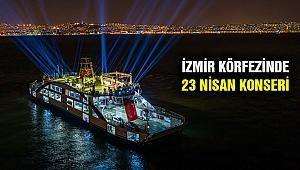 İzmir Körfezinde Haluk Levent ile 23 Nisan coşkusu yaşandı