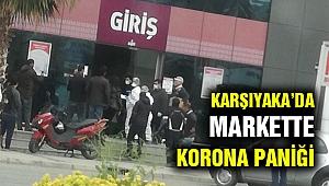 Karşıyaka'da markete korona karintinası!