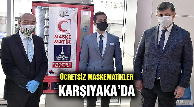 Karşıyaka'ya da ücretsiz maskematik konuldu