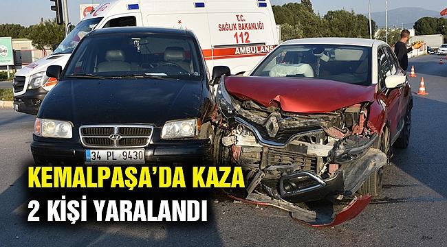 Kemalpaşa'daki kazada 2 kişi yaralandı!