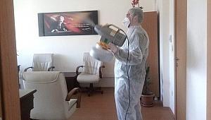 Ödemiş Adliyesinde koronavirüs tedbirleri arttırıldı