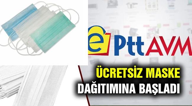PTT ücretsiz maske dağıtımına başlıyor