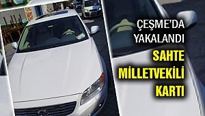 'Sahte milletvekili kartı' ile İzmir'de yakayı ele verdi!
