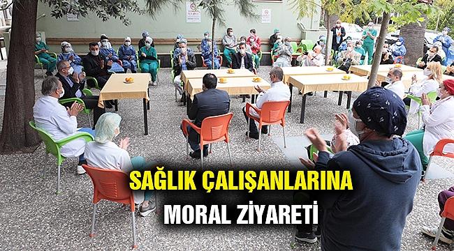 Sürekli'den sağlık çalışanlarına moral ziyareti
