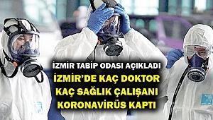 Tabip Odası açıkladı: İzmir'de korona tedavisi gören sağlık çalışanı sayıları