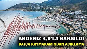 Akdeniz'de 4,9'luk deprem... Datça Kaymakamı Çoban ilçedeki durumu anlattı...