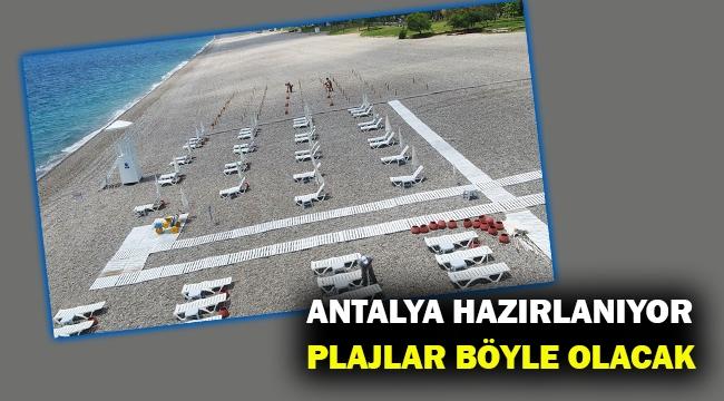 Antalya Konyaaltı sahiline 'sosyal mesafeli tatil' düzenlemesi