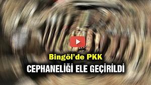 Bingöl'de PKK cephaneliği ele geçirildi...