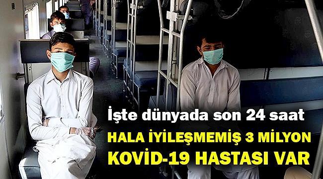 Dünyada halen iyileşmeyen 3 milyon Kovid-19 hastası var!