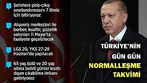 Erdoğan açıkladı... İşte gün gün Türkiye'nin normalleşme takvimi