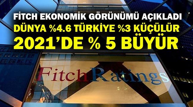 Fitch: Türkiye %3 küçülür, seneye %5 büyür...