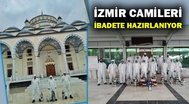 İzmir'de camiler yeniden ibadete hazırlanıyor... Belediyeler temizliğe başladı...