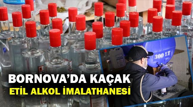 İzmir'de kaçak etil alkol imalathanesine baskın