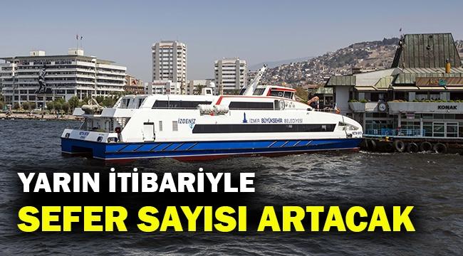 İzmir normale dönüyor... Vapur seferleri arttırıldı...