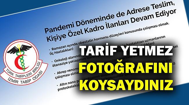 İzmir Tabip Odası: Kişiye özel ilanla personel alınıyor!