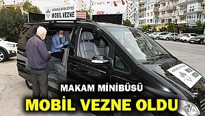 Karabağlar'da makam minibüsü mobil vezne oldu