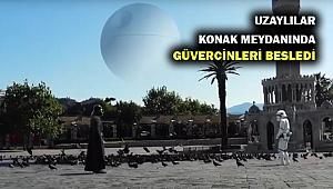 Konak Meydanını uzaylılar mı bastı? İşte sosyal medyada büyük beğeni toplayan o video!