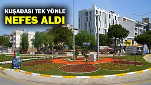 Kuşadası tek yönle nefes aldı... 4 bin 200 metrekare yeni yeşil alan kazandı...