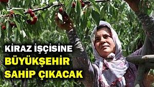 Mevsimlik işçilere Büyükşehir'den büyük destek