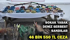 Sokak yasak ama deniz serbest sandılar... 46 bin 550 lira ceza yediler...