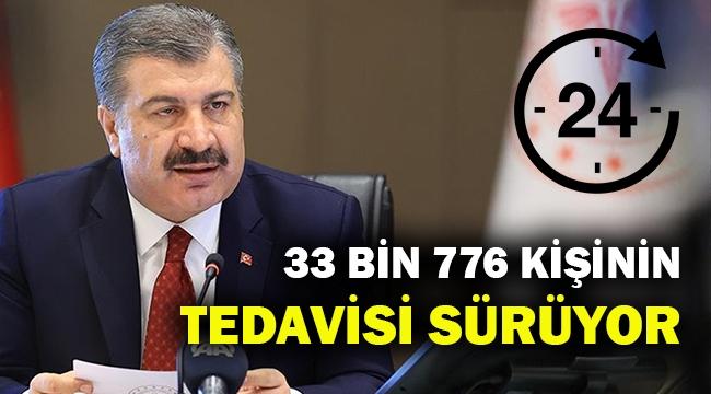 Türkiye'de 33 bin 776 kişinin Korona tedavisi sürüyor