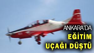 Ankara'da eğitim uçağı düştü!
