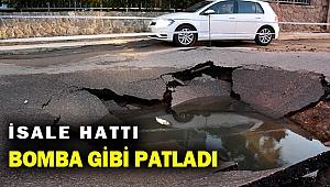 Bodrum'da içme suyu isale hattında patlama meydana geldi!