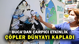 Buca'da Çevre Gününde örnek proje: Çöpler dünyayı kapladı