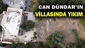 Can Dündar'ın Bodrum'daki villasında yıkım...