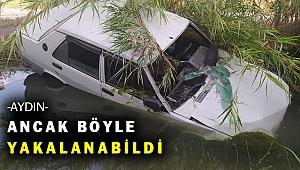 'Dur' ihtarına uymadı, kovalamaca sulama kanalında bitti