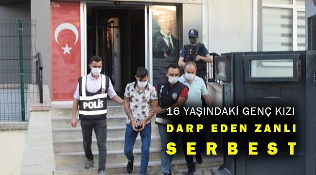 İzmir'de sokakta genç kızı darp eden şüpheli serbest bırakıldı
