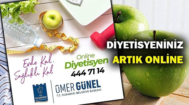 """KUŞADASI BELEDİYESİ'NDEN """"ONLINE DİYETİSYEN"""" HİZMETİ"""