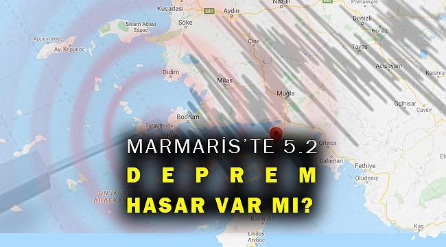 Marmaris'te 5.2 büyüklüğünde deprem... İzmir'de sallandı!