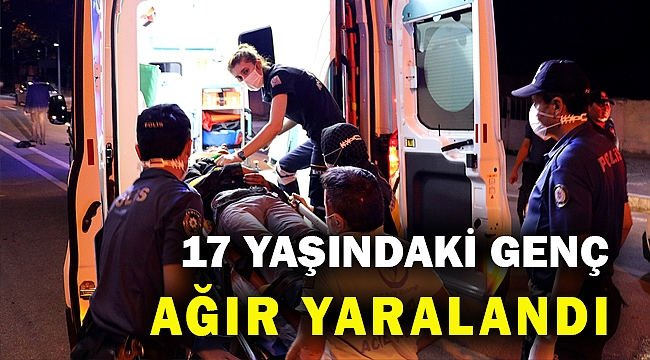 Plakasız motosikletle polis aracına çarpan genç ağır yaralandı