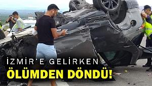 Şarkıcı Alişan İzmir'e gelirken Manisa'da kaza yaptı