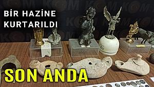 Aydın'da 155 parça tarihi eser ile 2 bin 300 sikke ele geçirildi