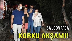 Balçova'da çıkan yangın evleri tehdit etti
