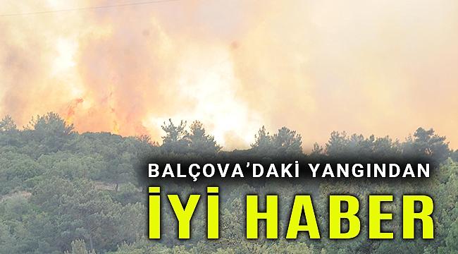 Balçova'daki yangından iyi haber