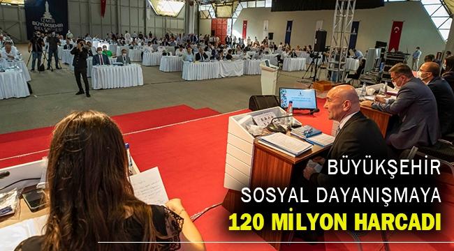 Büyükşehir sosyal dayanışmaya 120 milyon harcadı
