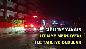 Çiğli'de 6 katlı apartmanda yangın