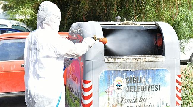 Çiğli'de 700 konteyner haşereye karşı ilaçlandı
