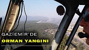 Gaziemir'de orman yangını başladı!