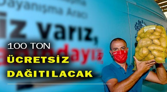 İzmir Büyükşehir üreticiyi desteklemeyi sürdürüyor:100 ton patates alındı