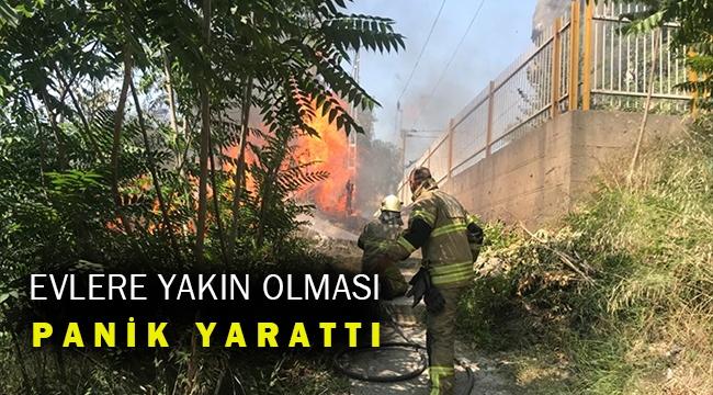 Buca'da depo olarak kullanılan binada yangın