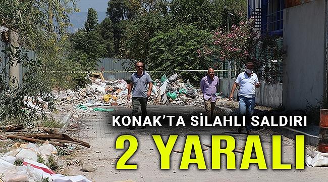İzmir Konak'taki silahlı saldırıda 2 kişi yaralandı