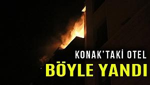 Konak'ta otelde yangın paniği