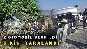 Manisa'da kaza 5 kişi yaralandı