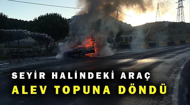Muğla'da seyir halindeki otomobil yandı sürücüsü ise...