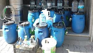 Ödemiş'te 450 litre sahte alkol ele geçirildi