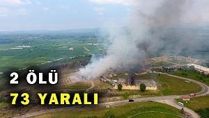 Sakarya'da havai fişek fabrikasında patlama: 2 ölü, 73 yaralı